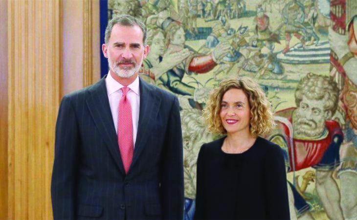 El rey con Meritxell Batet, actual presidenta del Congreso