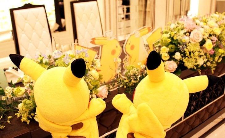 Toda la decoración de la boda gira en torno a Pokémon