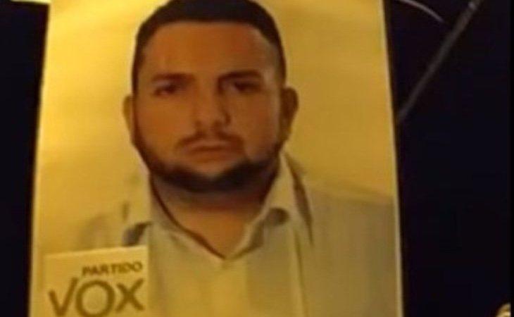 Antonio, en los carteles de propaganda electoral