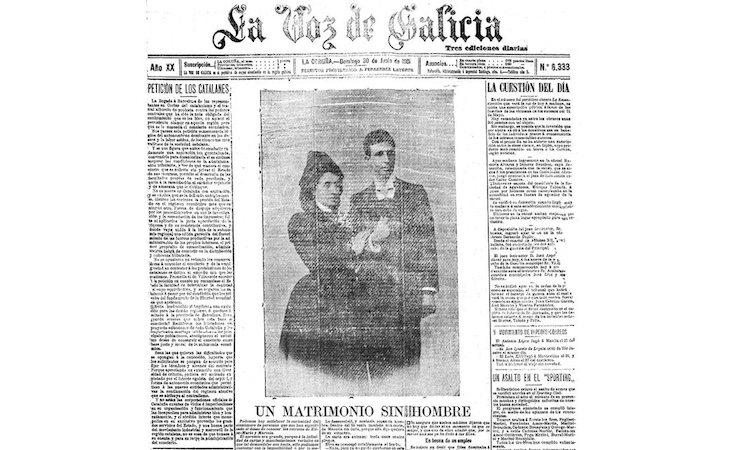 La Voz de Galicia publicó la historia de Elisa y Marcela en 1901