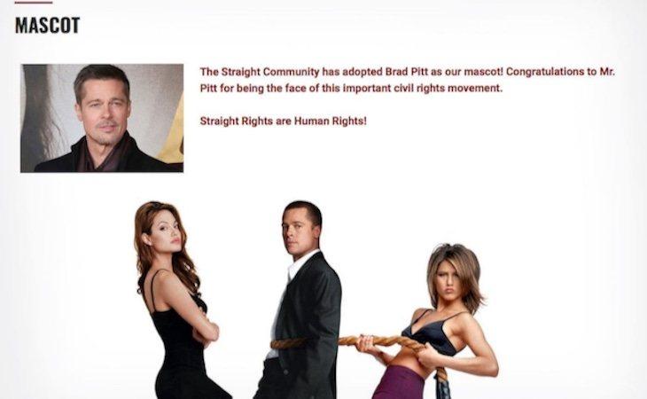 Super Happy Fun America utilizó la imagen de Brad Pitt sin su permiso