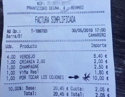 "El bar vasco que cobró 10 euros a un cliente ""por tocar los cojones"""
