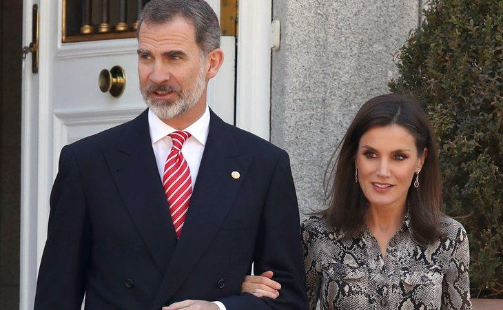 Don Felipe y doña Letizia en la Zarzuela