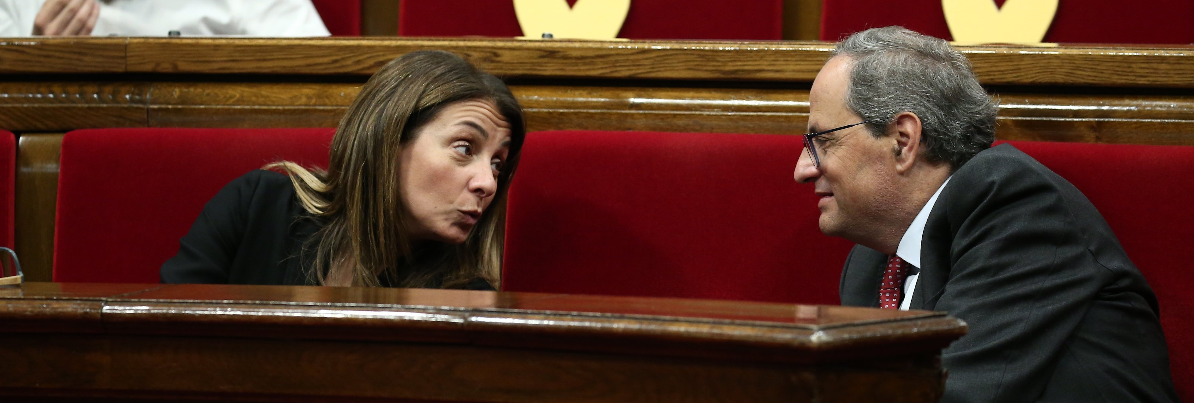 La portavoz de la Generalitat, Meritxell Budó, se niega a responder preguntas en castellano