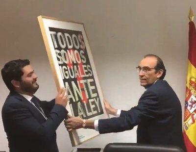 Cambios en Asamblea de Madrid: VOX sustituye la igualdad por un retrato de Felipe VI