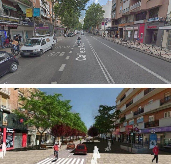 La reforma de la calle Alcalá era una de las propuestas de Carmena para revitalizar la zona, pero finalmente no se ha llevado a cabo