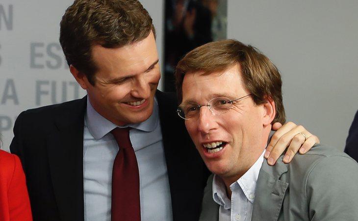Pablo Casado junto a José Luís Martíñez-Alemida, candidato del PP al Ayuntamiento del PP