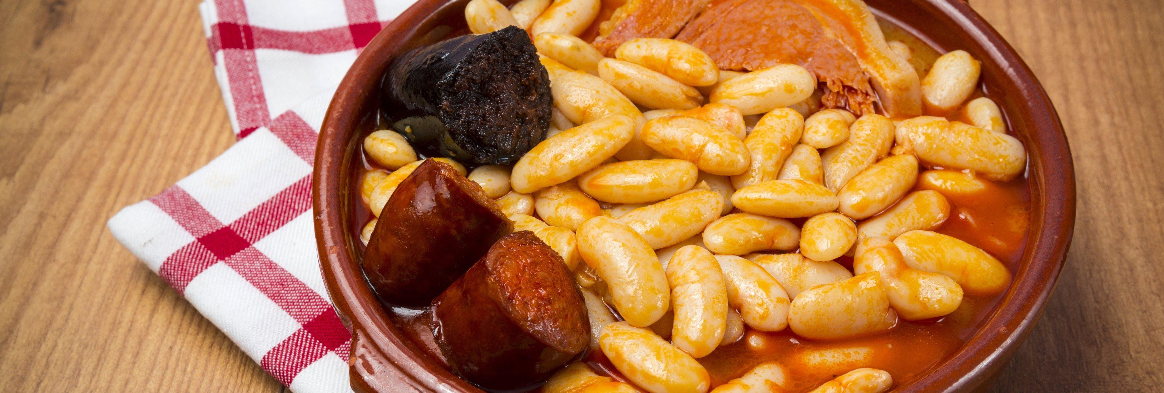 Sustituyen el chorizo y la morcilla de la fabada por verdura, y Asturias no lo puede creer