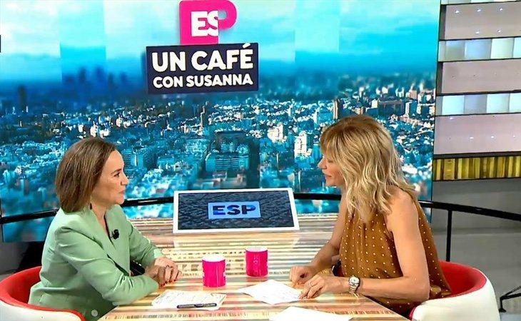 Cuca Gamarra, durante su entrevista en 'Espejo Público'