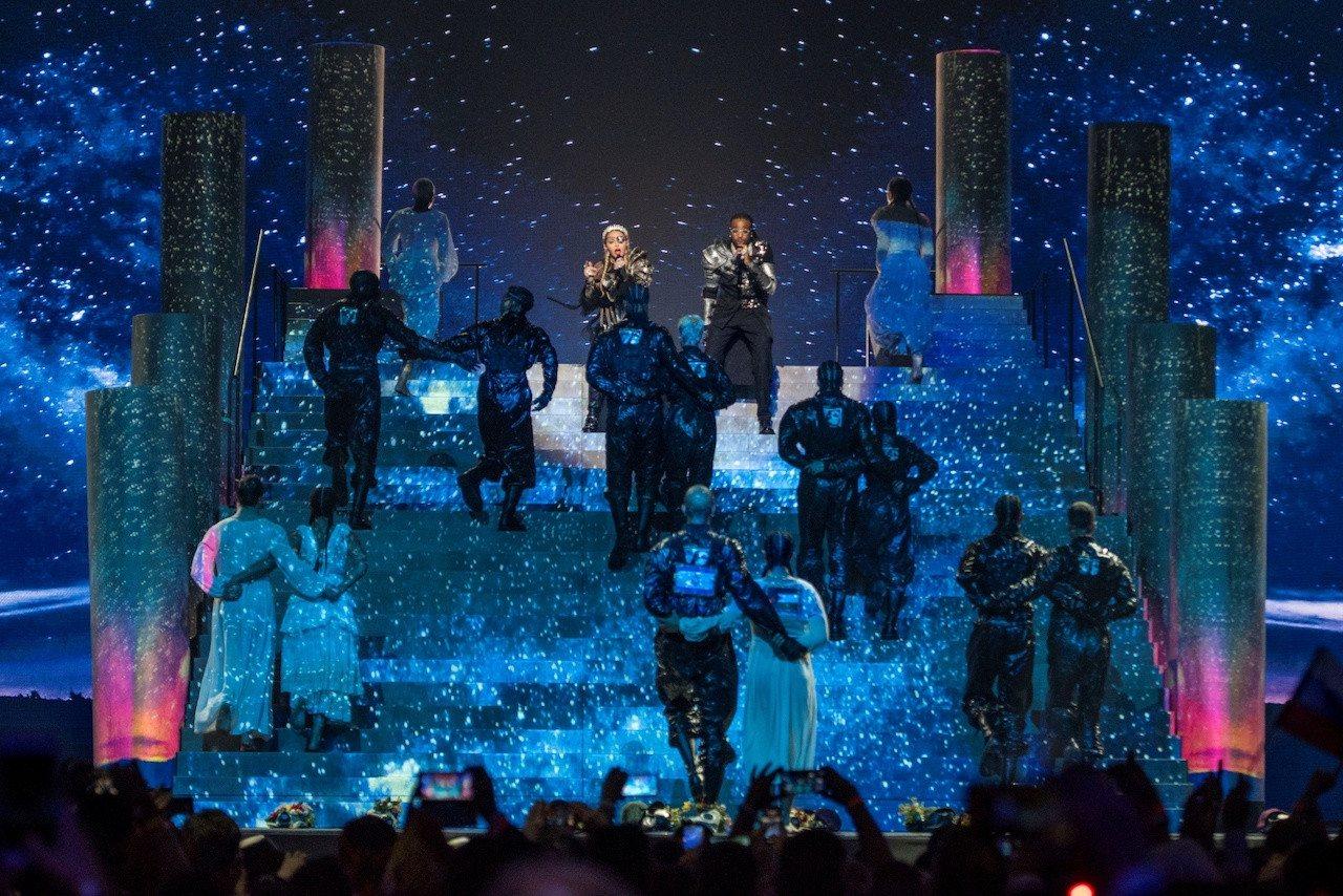 Madonna, durante su actuación en Eurovisión 2019