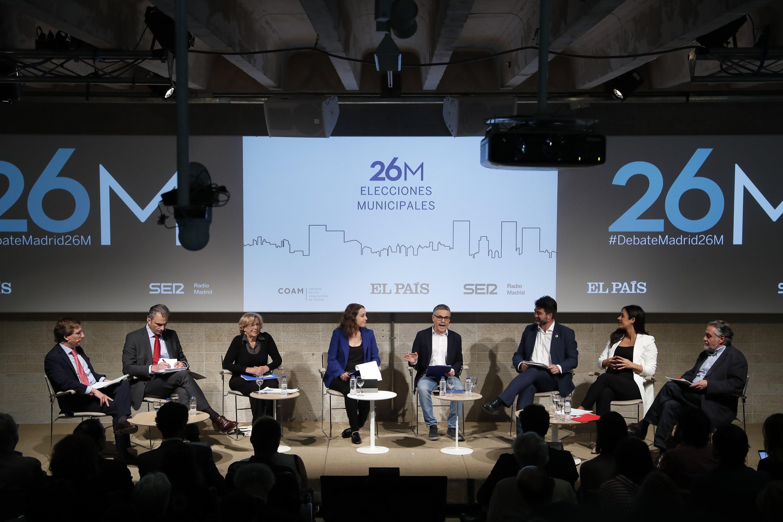 El debate, con los principales candidatos a la Alcaldía de Madrid, previo a las elecciones municipales del 26M
