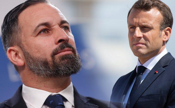 Santiago Abascal arremete contra Macron: 'Debe aprender a no meter sus narices en la política española'