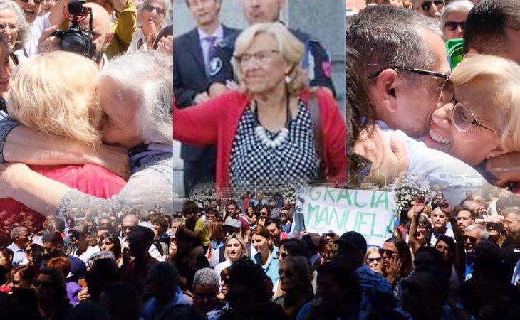 Madrid, agradecida, despide a Manuela Carmena con una gran ovación #GraciasManuela