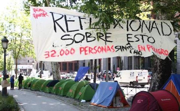 Hay muchas personas sin techo en riesgo de exclusión social
