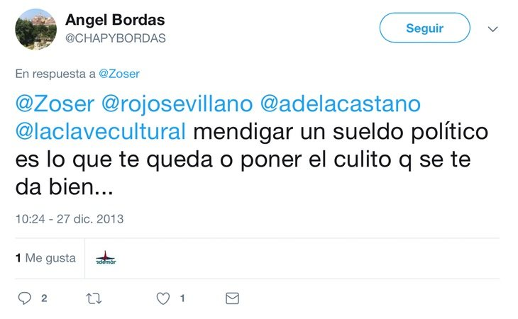 Tuit de Ángel Bordas