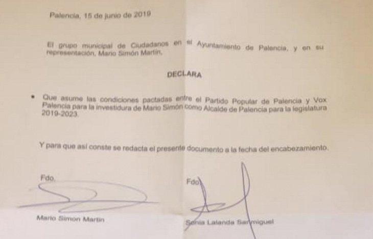 Ciudadanos consigue gobernar Palencia gracias al apoyo de VOX   El Plural