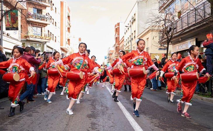 Celebración del 'Año Nuevo Chino' en el distrito de Usera