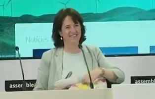 """La presidenta de la ANC, pillada criticando a una periodista: """"Qué pesada la española esta"""""""