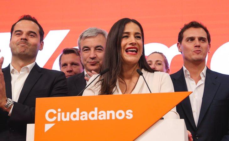 Begoña Villacís (Ciudadanos), vicealcaldesa de Madrid, junto a Albert Rivera