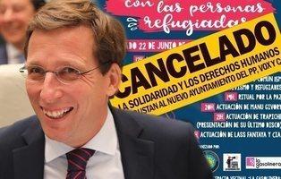 Almeida prohíbe la celebración de un concierto en solidaridad con los refugiados
