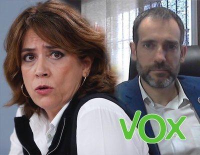 """La Fiscalía estudia querellar al líder de VOX Murcia por llamar """"puta"""" a Dolores Delgado"""