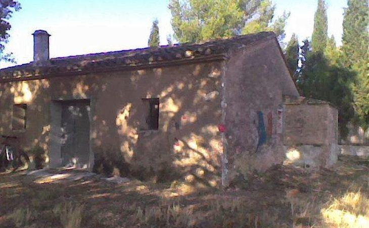 Caseta donde apareció el cuerpo de Rosario