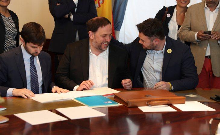 Presos políticos como Oriol Junqueras cuenta con cuatro fondos de pensiones que declaró en el último ejercicio de transparencia del Congreso