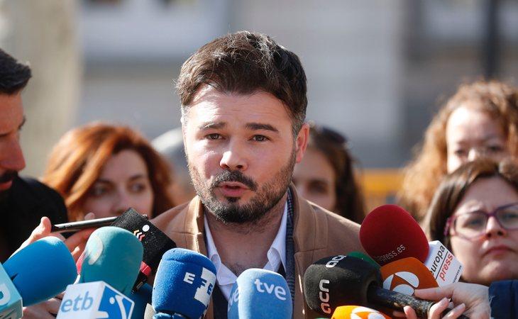 Gabriel Rufián recibió aproximadamente 86.000 euros por el desarrollo de sus labores como parlamentario