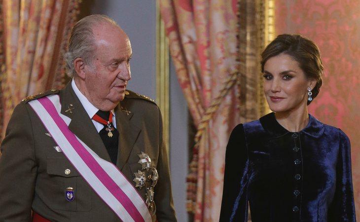Desde lo ocurrido en Mallorca, don Juan Carlos ha coincidido públicamente con Letizia en pocas ocasiones