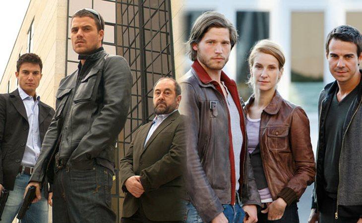 Protagonistas de 'Cuenta atrás' (izq.) y protagonistas de la versión alemana (der.)