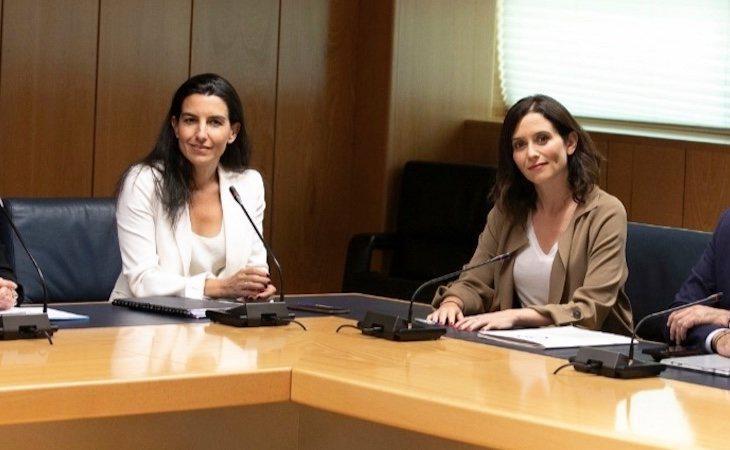 Isabel Díaz Ayuso y Rocío Monasterio están acercando posturas para el pacto de investidura de la Comunidad de Madrid