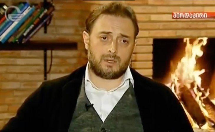 Leván Vasadze en una entrevista emitida en la televisión georgiana