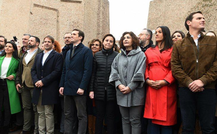 Ciudadanos, junto a PP y VOX, en Colón
