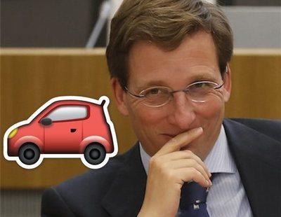 Atasco en las redes de Almeida: se llenan de emojis de vehículos por el cierre de Madrid Central
