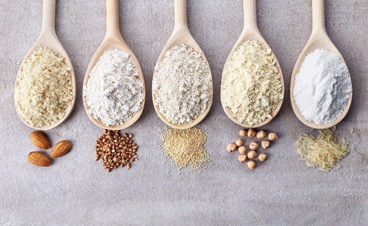 Existen harinas de cereales y frutos secos que no contienen gluten