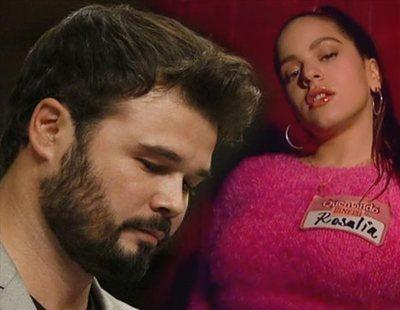Las redes sociales estallan contra Rufián por elogiar la nueva canción de Rosalía