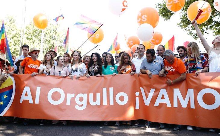 Los líderes de Ciudadanos se presentaron en la manifestación del Orgullo 2019