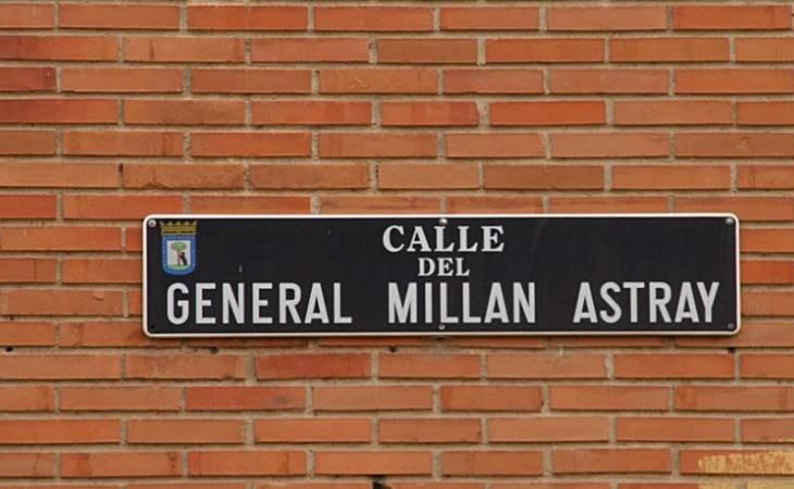 Ex legionarios piden a Martínez-Almeida recuperar el nombre de la calle del General Millán Astray