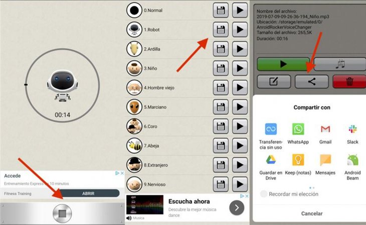 Android permite modificar la voz de los mensajes de WhatsApp a través de la app Voice Changer, disponible en Play Store
