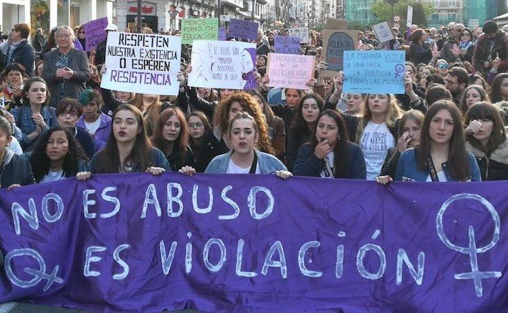 El movimiento feminista tomó las calles tras el caso de 'La Manada'