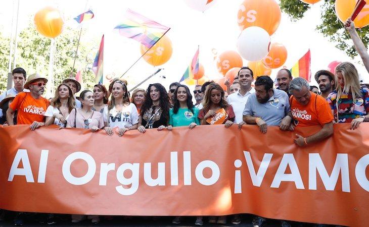 Ciudadanos protagonizó un altercado durante la marcha del Orgullo LGTBI