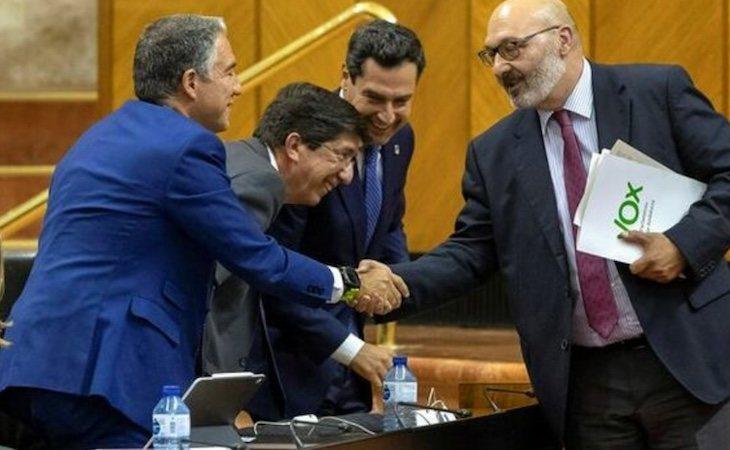 Alejandro Hernández de VOX pactó con PP y Ciudadanos en Andalucía
