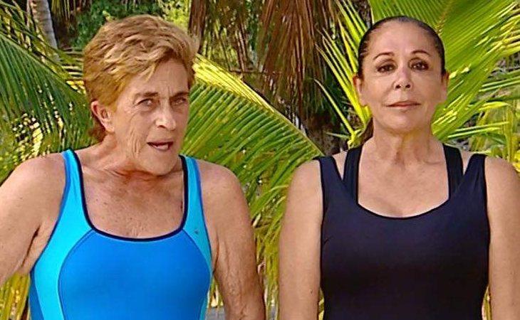 Chelo García Cortés e Isabel Pantoja en 'Supervivientes 2019'