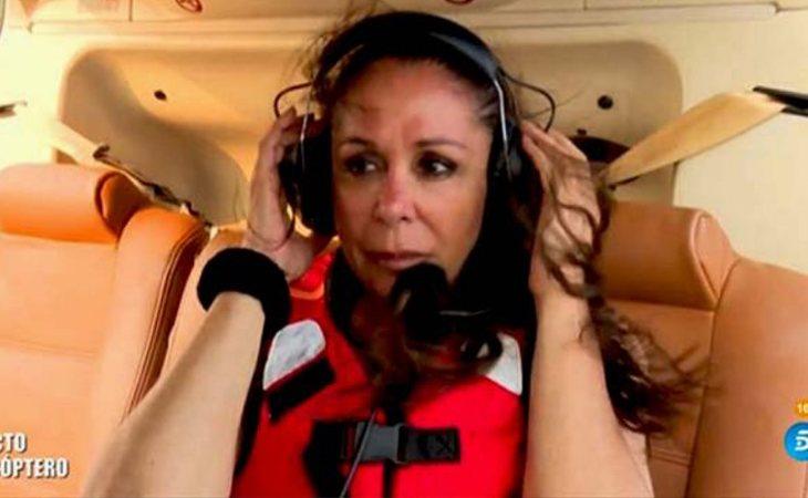 Isabel Pantoja en el helicóptero en 'Supervivientes 2019'
