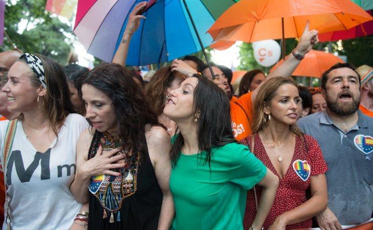 Arrimadas protagonizó una polémica durante la marcha del Orgullo de Madrid