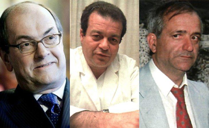 Alfonso Calvé, Ángel Sopeña y Moisés Domínguez