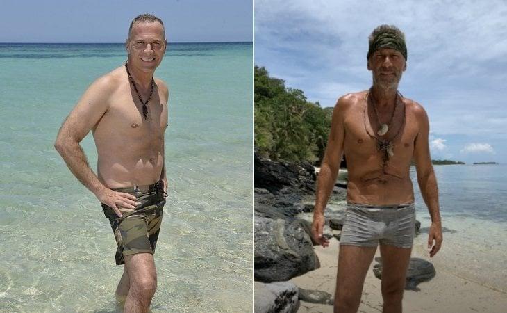 Carlos Lozano antes y después de su paso por 'Supervivientes'