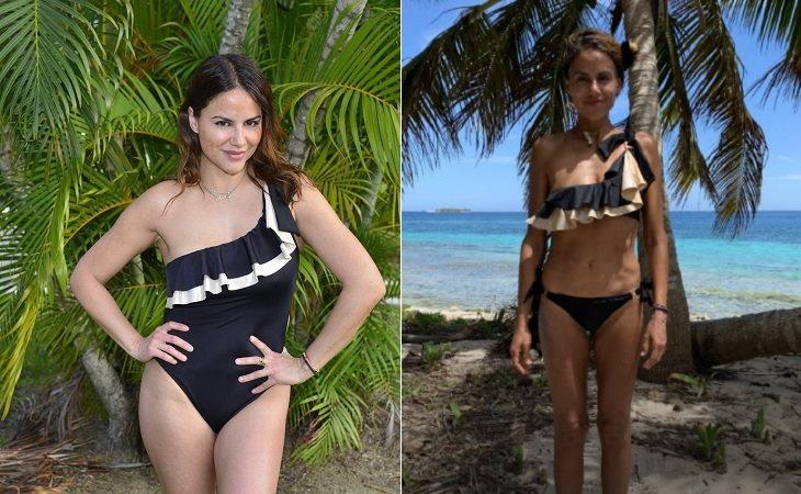 Mónica Hoyos antes y después de su paso por 'Supervivientes'
