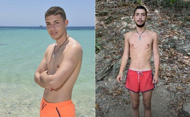 Jonatha Piqueras antes y después de su paso por 'Supervivientes'