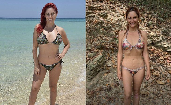 Aneth antes y después de su paso por 'Supervivientes'